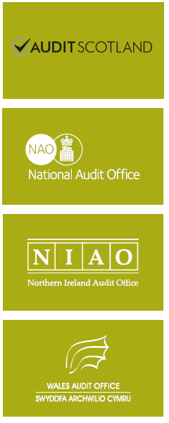 Logos of UK public audit bodies